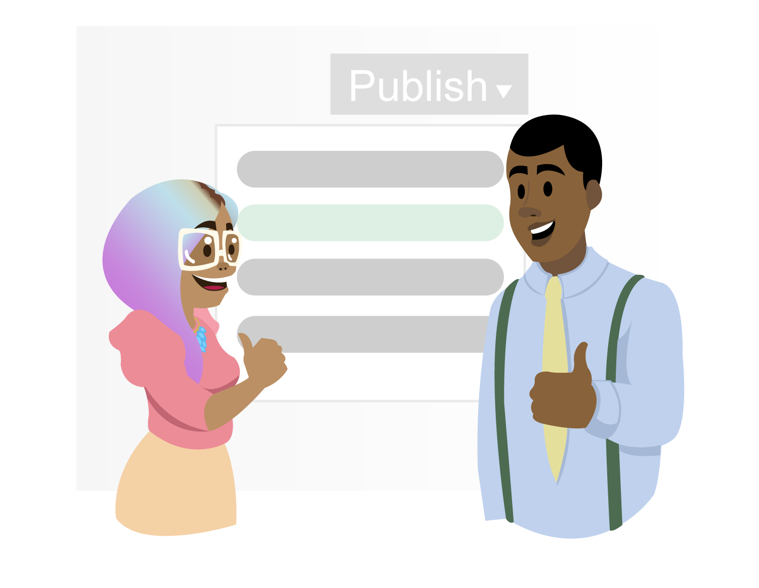Publish as a template